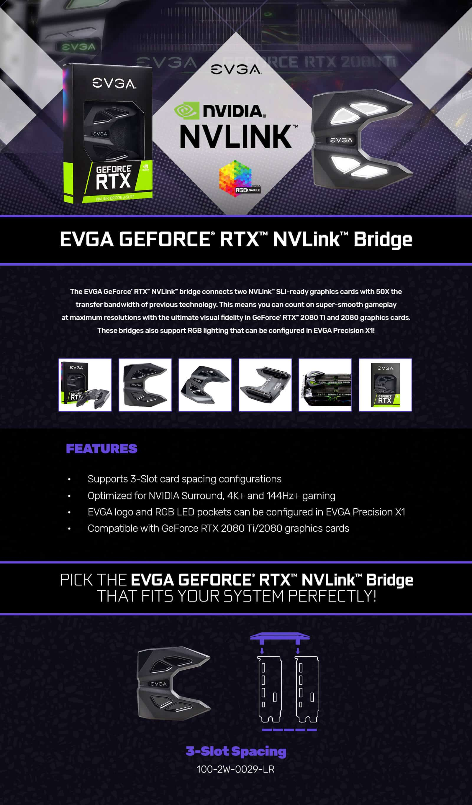 EVGA GeForce RTX NV Link SLI Bridge