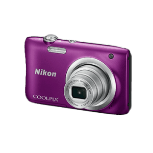 Nikon Coolpix A100 Point and Shoot Digital Camera with Card and Camera Case