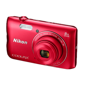 Nikon Coolpix A300 20.1MP Point and Shoot Camera with 8x Optical Zoom