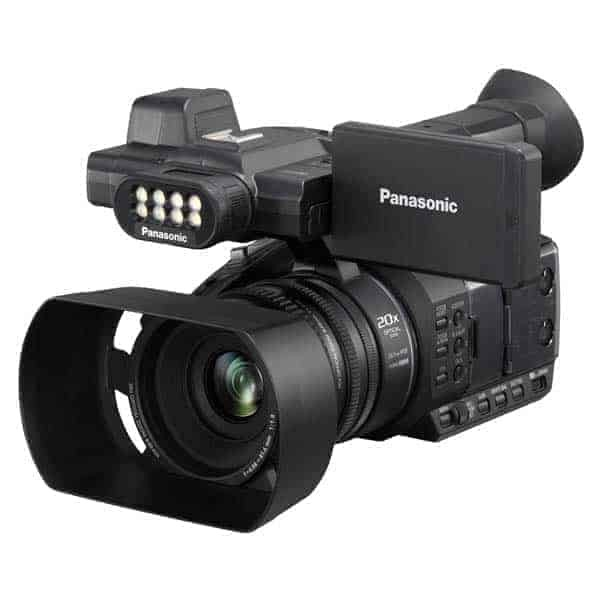 Panasonic HC-PV100 HD Camcorder, HD Camcorder HC-PV100. ... The HC-PV100, a Full-HD camcorder, comfortably , Panasonic has launched its HC-PV100 full HD camera. The company says that the new palm-type professional camera is a one model solution for all events ranging from weddings, parties and conferences. The Panasonic HC-PV100 is equipped with three manual rings and 2-channel XLR audio input terminals