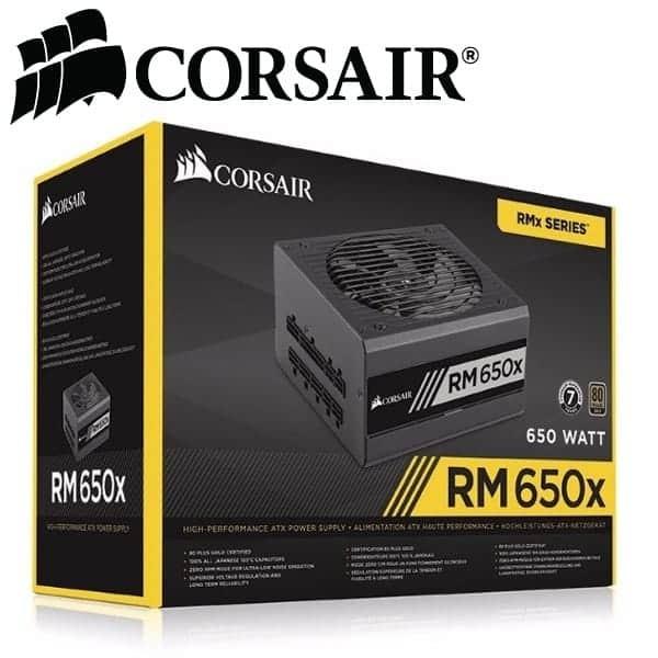 Corsair RMx Series™ RM650x 650 Watt 80 PLUS® Gold Certified Fully Modular PSU - (CP-9020091-EU)