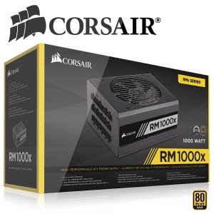 CORSAIR SMPS RM1000X - 1000 WATT 80 PLUS GOLD CERTIFIED FULLY MODULAR PSU. ... Corsair RMx series power supplies give you extremely tight voltage control, quiet operation, Gold-certified efficiency, and a fully modular cable set. ... 80 PLUS Gold efficiency reduces operating cost and ... ASUS LGA1151 DDR4 HDMI B250 ATX Motherboard for Cryptocurrency Mining…. ... Corsair RMx Series RM850X - 850 Watt - ATX12V / EPS12V 80 PLUS GOLD Certified Full Modular Power. ... Corsair CP-9020099-NA CX Series CX850M 850 watts Power Supply Unit (Black) CORSAIR RM Series™ are fully modular, optimized for silence, and deliver gold-rated efficiency. ... The Corsair RM1000 is fully modular and optimized for silence and high efficiency. ... 80 PLUS Gold rated efficiency saves you money on your power bill, and the low-profile black cables ... ITEM DETAILS: Corsair RM1000X 1000WATT Desktop Computer Power Supply/PSU/SMPS FEATURES: Best Quality Corsair Original Product TECHNICAL ...
