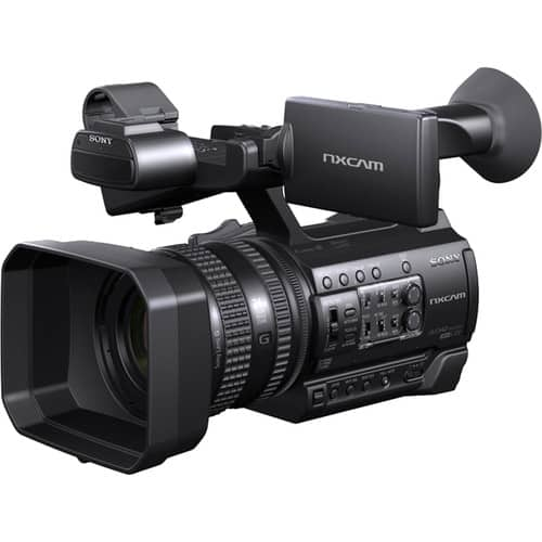 The HXR-NX100 NXCAM Professional Handheld Camcorder from Sony brings high-quality performance, adaptability, and ease of use to a compact, handheld body. The camcorder features a single Exmor R sensor with Full HD 1920x1080 resolution, Sony G lens with 12x optical zoom range, and ... Image Stabilizer‎: ‎ON/OFF selectable, shift lens Zoom Ratio‎: ‎12x (optical), servo Lens Mount‎: ‎Fixed Filter Diameter‎: ‎62mm, Sony HXR-NX100 is suitable for event, seminar and lecture shooting etc. It is a professional grade camcorder,