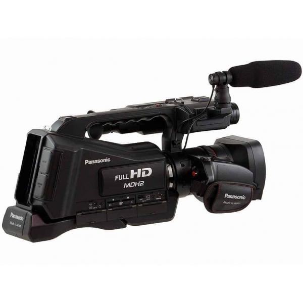 Panasonic HC-MDH2 AVCHD Shoulder Mount Camcorder, Record simultaneously in two memory devices for added dependability and reliability. In addition, Relay Recording enables switching between 2 memory devices, suitable for extended recordings. Note: - The voice is interrupted for a few seconds during the device switching. - Simultaneous Recording is not available during, Panasonic MDH2M Camcorder (Black) ... Panasonic HC-V270 HD Video Camera (Black)+ free 16 gb sd card and free carry bag. ... Full HD Recording 3 inch LCD Monitor 4.14 Megapixel Camera MOS Sensor 49 mm Filter Diameter HDMI Support f/1.8 - f/5.6