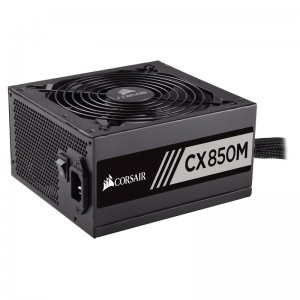 CORSAIR SMPS CX850M - 850 WATT 80 PLUS BRONZE CERTIFICATION SEMI MODULAR PSU WITH ACTIVE PFC
