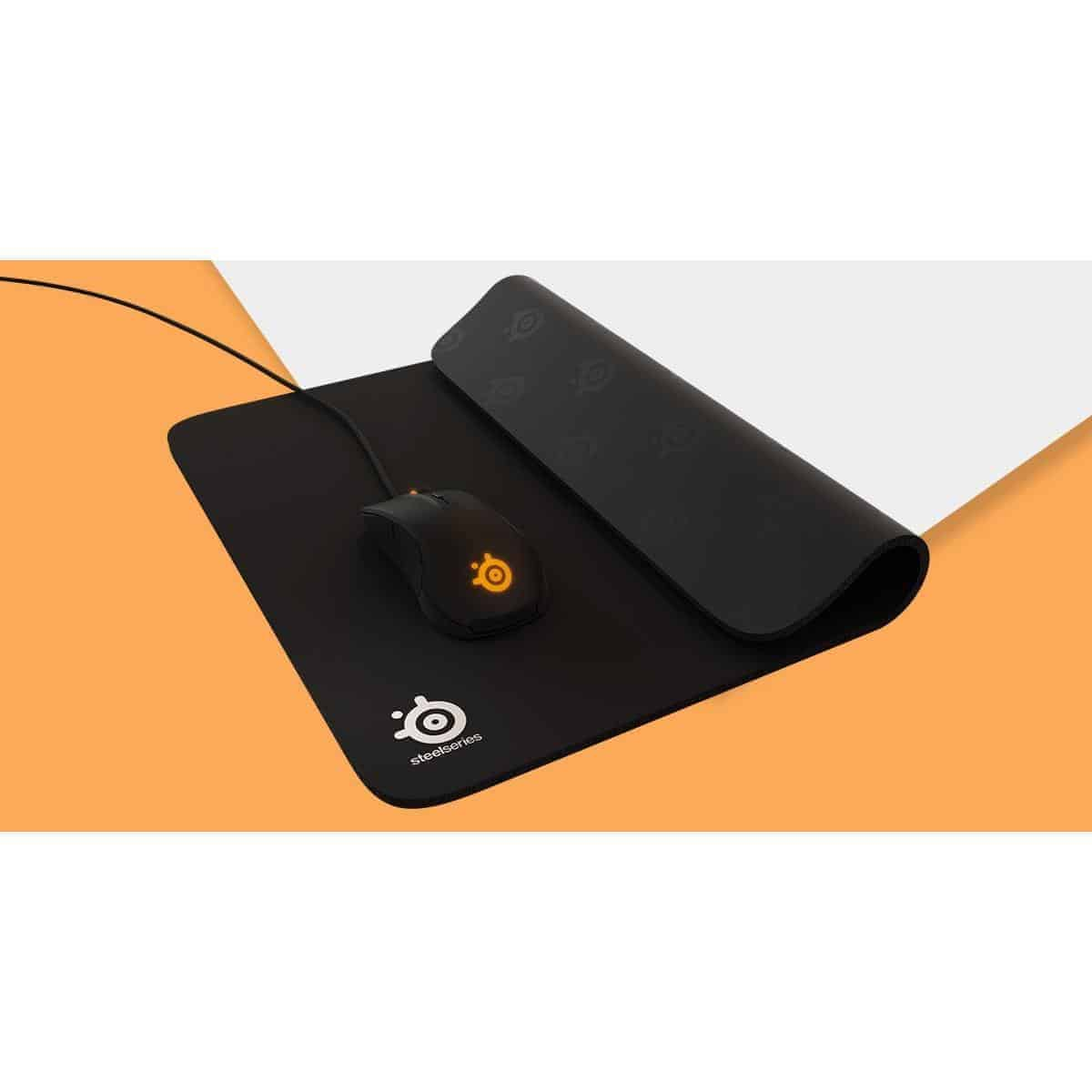 SteelSeries QcK Heavy, Thick Gaming Mouse Pad, 450mm x 400mm, Cloth, Rubber Base, Laser & Optical Mouse Compatible, Kartmy