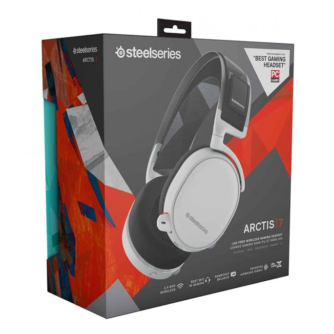 SteelSeries - Arctis 7 Wireless DTS 7.1 Surround Gaming Headset for PC, PlayStation 4, VR, Mac and Wired for Xbox One, Android and iOS - Black