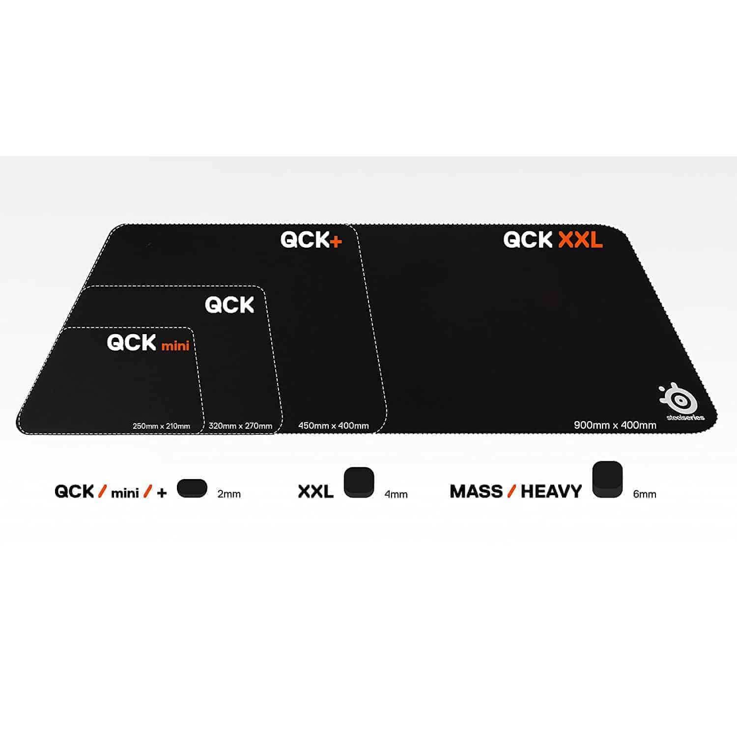 SteelSeries QcK Mass Thick 63010 Gaming Mouse Pad, Kartmy