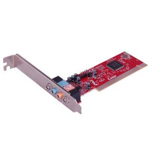 PCI SOUND CARD 4 CHANNEL, Type of Sound Card: Stand-Alone Audio Card; Internal/External: Internal; Port Connectors: Line In, Mic In, Front Speaker, Rear Speaker, Game/MIDI; Slot Type: PCI; OS Supported: Windows® 98, 98SE, ME, 2000, XP; Compliance with APM 1.2, ACPI 1.1, and PPMI 1.1; High-performance single-chip PCI audio acceleration, Full-duplex playback and recording. Built-in 16-bit CODEC; HRTF 3D positional audio, supporting both direct sound 3D® & A3D® interface. Support earphone, two/four channel speaker; Built-in 32 Ohm earphone buffer; PCI Rev. 2.2 compliant with bus mastering modes; Support Windows® 2000, XP/2003, Vista, satyamfilm.com, kartmy.com