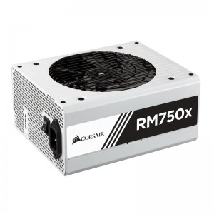 RMx White Series™ RM750x — 750 Watt 80 PLUS® Gold Certified Fully Modular PSU, Power Supply, SMPS