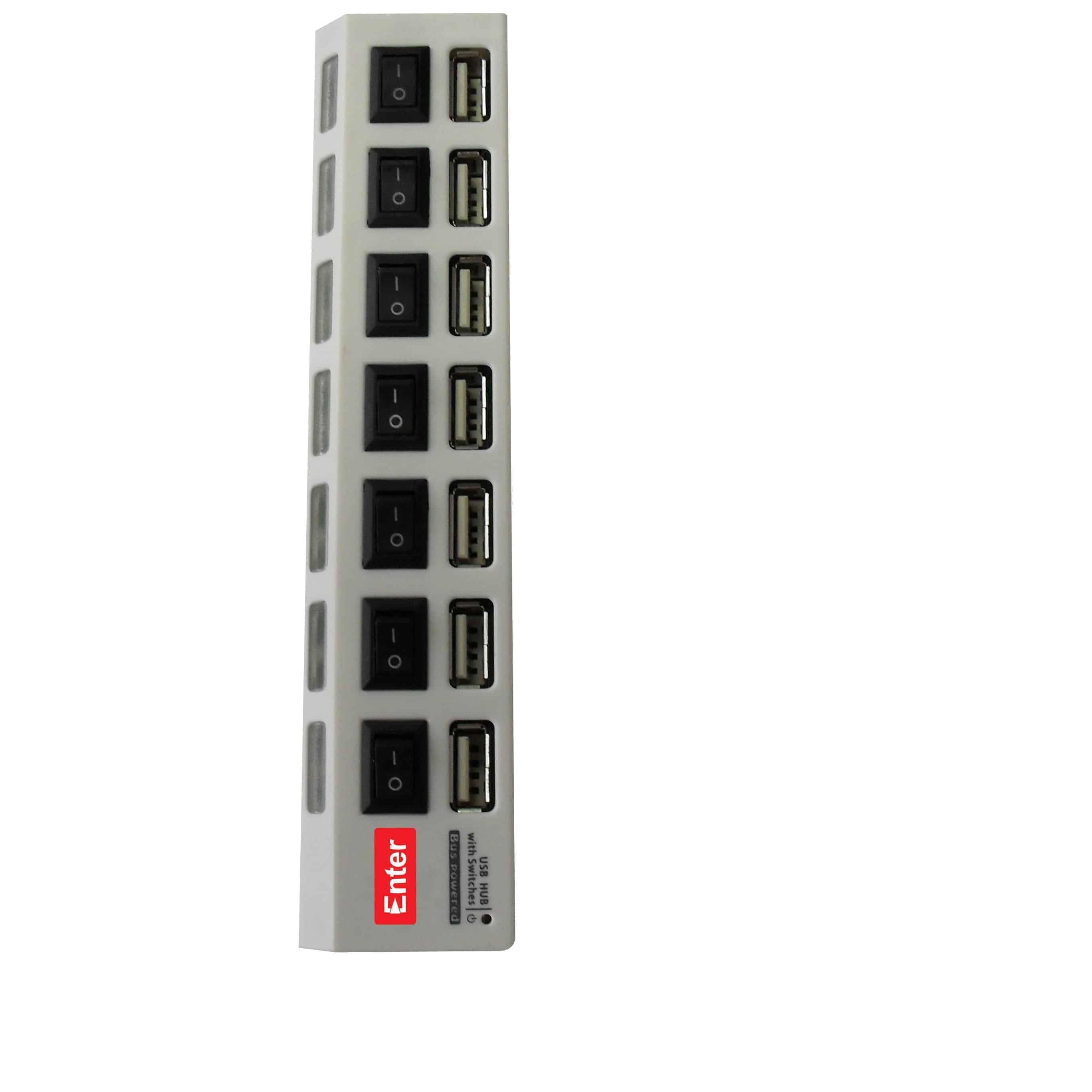 USB 7 Port Hub 2, Enter - USB HUB MU-HUB4PO-003 USB(2.0) 4 Port HUB E-U4P satyamfilm.com kartmy.com