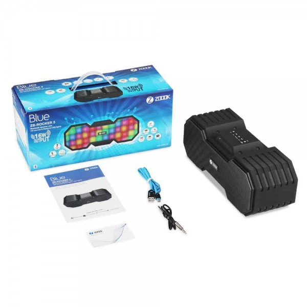 Zoook BLUETOOTH SPEAKER WITH DYNAMIC LED LIGHTS AND HD SOUND ZB-ROCKER-3, Kartmy