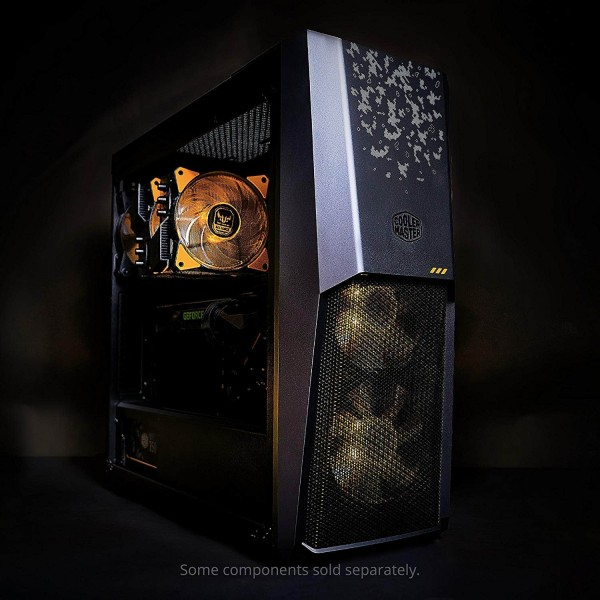 Gaming Cabinet Video EDiting/Mixing Cabinet Casing Are You TUF Enuf? MasterBox MB500 TUF Gaming Edition. TUF Gaming Camouflage Styling; Full Black Coated Body and PSU Cover; PSU Shroud Cut Out to, Buy Cooler Master MasterBox MB500 TUF Edition Mid Tower Case - Black (MCB-B500D-KGNN-TUF) at lowest price in india, Top-notch thermal performance, digital camo styling, and reasonable pricing make this chassis a must-have for gamers after for a chassis, The MB500 case supports CPU-Coolers up to a height of 160mm, Graphic Cards up to a length of 400mm, and Power Supplies up to a length of 180mm.