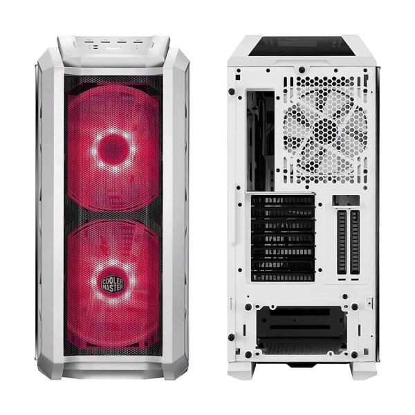Video Mixing, Editing, Gaming Casing (Cabinet) , Mind-Blowing Design. MasterCase H500P Mesh White. Two 200mm RGB fans behind a Mesh Front Panel; Covers for Clean Building; Vertical Graphics Card , The MasterCase H500P Mesh White has a light grey tinted tempered glass side panel and plastic top cover, making it ideal for showcasing your build with (RGB), Cooler Master MasterCase H500P Mesh White ATX Mid-Tower Case with 2 x 200mm RGB Fans Tempered Glass Side Panel Cases (MCM-H500P-WGNN-S00) kartmy.com , kartnp.com , satyamfilm.com , satyamfilms.com