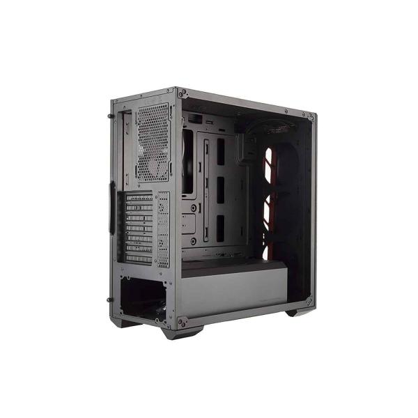 COOLER MASTER MASTERBOX MB510L (ATX) Mid Tower Cabinet - With Transparent Side Panel, Cooler Master MasterBox MB510L Red Trim ATX PC Computer Case (MCB-B510L-KANN-S00), Cooler Master MasterBox MB510L Red Trim ATX PC Computer Case (MCB-B510L-KANN-S00) online at low price in India, Ready, Set, Game. MasterBox MB510L. Carbon Texture; Aggressive Intakes; Edge-To-Edge Transparent Side Panel; Support for a Total of 6 Fans and Water, MASTERBOX MB510L; Carbon Texture; Aggressive Intakes; Edge-To-Edge Transparent Side Panel; Support for a Total of 6 Fans and Water Cooling; Graphics