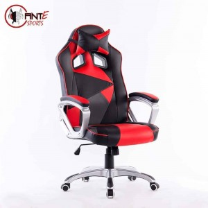Ant E Sports, WB-8077 Painting with Metal Frame,Silver Base and Adjustable Backrest Angle, (Red)