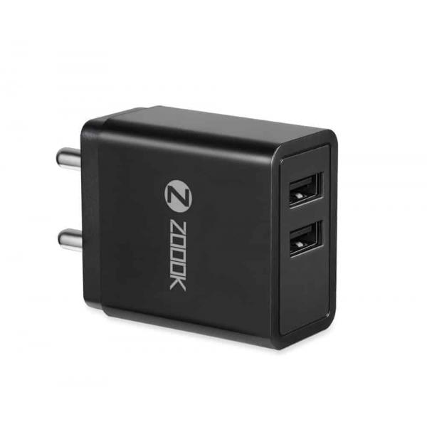 Zoook ZF-CHARGEMATE1 REAL 2.4 AMP TRAVEL ADAPTER WITH CABLE - BIS CERTIFIED