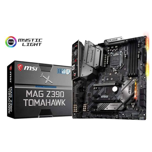 "Inspired by the military concept, MAG Z390 TOMAHAWK is equipped with a holistic integrated I/O cover, pre-installed IO shielding and ..., MSI MPG Z390I Gaming Edge AC LGA1151 Mini ITX Z390 Gaming Motherboard…. ... MSI Meg Z390 Ace LGA1151 (Intel 8th and 9th Gen) M.2 USB 3.1 Gen 2 DDR4 Wi-Fi SLI CFX…. ... Asus ROG Strix Z390-H Gaming ASUS LGA1151 (Intel 8th and 9th Gen) ATX DDR4 DP HDMI M.2…. While the H370 and B360 chipsets launched mid-2018, Intel reserved its high-end Z390 to be paired with its new ""ninth generation"" ... Buy MSI MAG Z390 TOMAHAWK LGA 1151 (300 Series) Intel Z390 HDMI SATA 6Gb/s USB 3.1 ATX Intel Motherboard with fast shipping and top-rated customer ..."