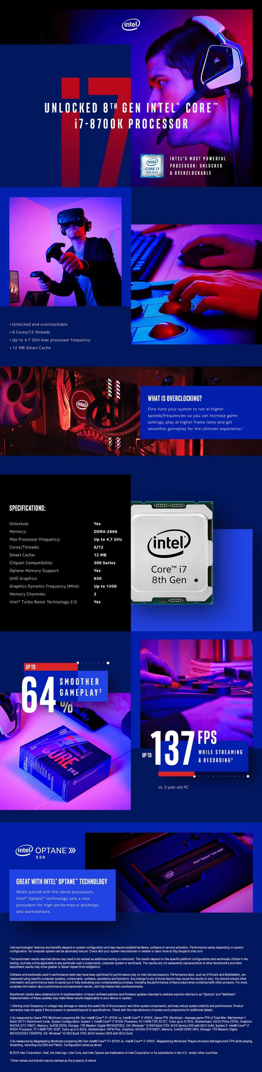 Intel® Core™ I7-8700K Desktop Processor